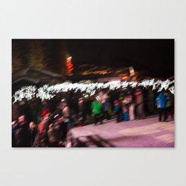 Torchlight descent Canvas Print