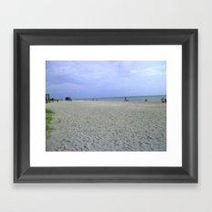 Vacancy on the Beach Framed Art Print