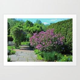 As the Courtyard Beckons Art Print