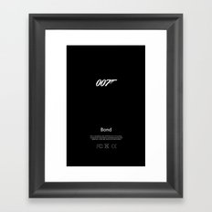007 iPhone Skin Framed Art Print