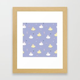 Cute calm bunnies pattern Framed Art Print