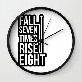 Rise (Black) Wall Clock