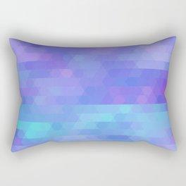 Athena abstract geometric in purple, aqua Rectangular Pillow