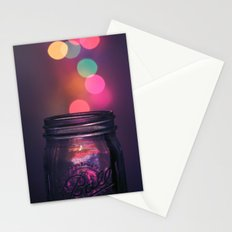 Bokeh Lighting Effects Stationery Cards