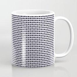 Heartless Pattern in Periwinkle Coffee Mug