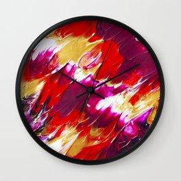 Opulent flames Wall Clock