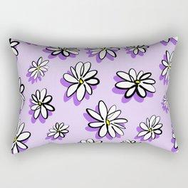 Purple daisy pattern Rectangular Pillow