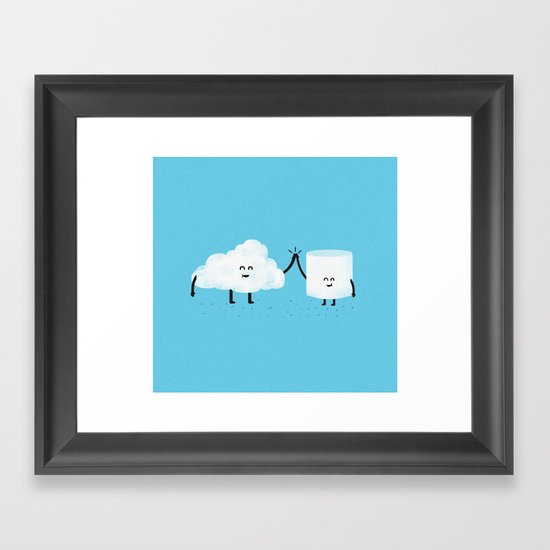 Puffy Pals Framed Art Print