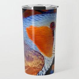 Zebra Finch Painted Travel Mug