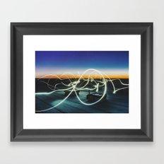 solar echo Framed Art Print