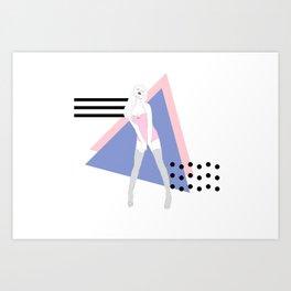Goddess beyond static Art Print