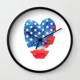 Love USA. aRT#1 Wall Clock