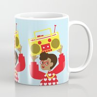 transistor Mugs featuring Trini Transistor  by The Pairabirds