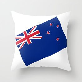 National flag of New Zealand - Authentic version to scale and color Throw Pillow
