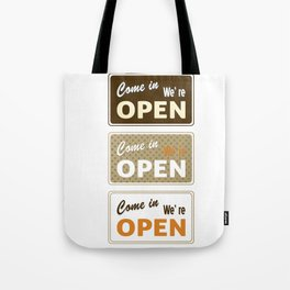 Set of retro labels in different colors. Vector Illustration Tote Bag
