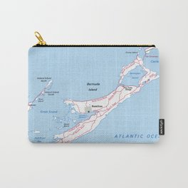 Vintage Map of Bermuda (1976) Carry-All Pouch
