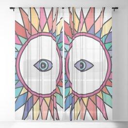 (Rainbow) Third Eye - Seeing Eye Sheer Curtain