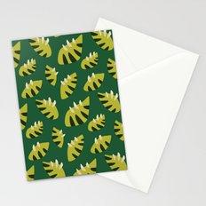 Pretty Clawed Green Leaf Pattern Stationery Cards