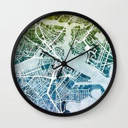 Boston Massachusetts Street Map Wall Clock