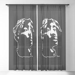 PORTRAIT OF A RAP LEGEND Sheer Curtain