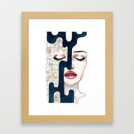 """Hidden side"" Framed Art Print"