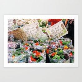 Calendula Salad Art Print