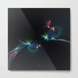 Fey Lights Fractal in Aurora 01 Metal Print