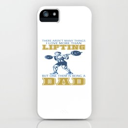 Lifting Dad iPhone Case