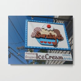 Sundaes At Sundays Metal Print