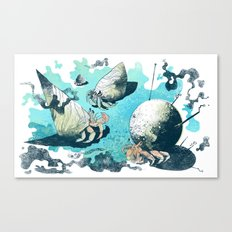 Keeping Up With The Crabs Canvas Print