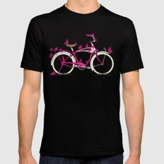 Butterfly Bicycle SMALL Mens Fitted Tee Black