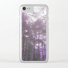 Violet Endless Album - Sun through forest Clear iPhone Case