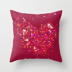 Heart2 Red Throw Pillow