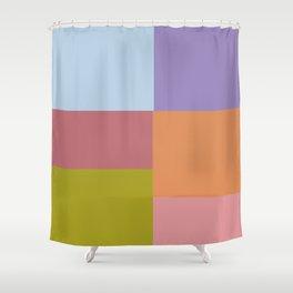 Pastel Squares Shower Curtain