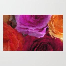 Wonderful painted Roses 4 Rug