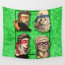 Renaissance Mutant Ninja Artists Wall Tapestry