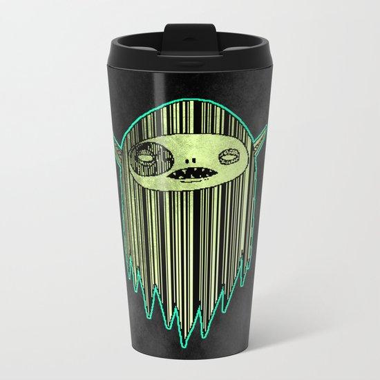 Phosphorescent Ghost ( HQ pixel ) Metal Travel Mug
