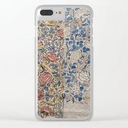 William Morris - Design For Chintz  Rose Clear iPhone Case