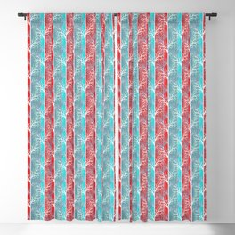 Red blue, abstract Blackout Curtain