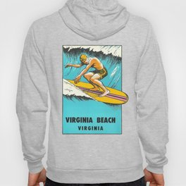 Virginia Beach Retro Vintage Surfer Hoody