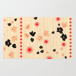 spotted blooms Rug
