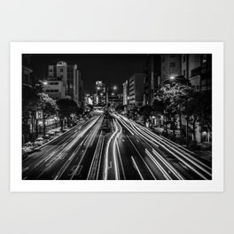 Naha Traffic Art Print