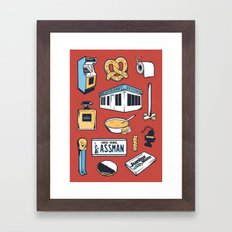 SEINFELD // Tattoo Flash Poster // George Costanza Cosmo Kramer Framed Art Print