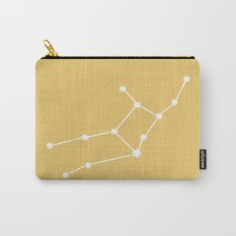 Virgo Zodiac Constellation - Golden Yellow Carry-All Pouch