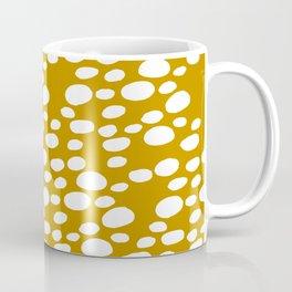 Monstera Leaf Hole Pattern - mustard yellow Coffee Mug