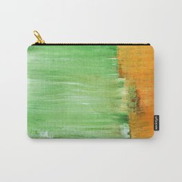 Modern Green Abstract Carry-All Pouch