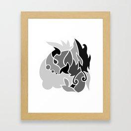 Black n Gray Framed Art Print