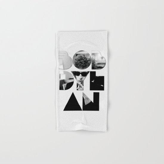 Bob Dylan Font Sunglasses Hand & Bath Towel