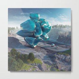 Blue Obsidian Metal Print