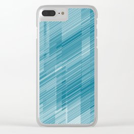 The Blue Hash - Geometric Pattern Clear iPhone Case